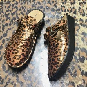 ( Copper Leopard Mules 10